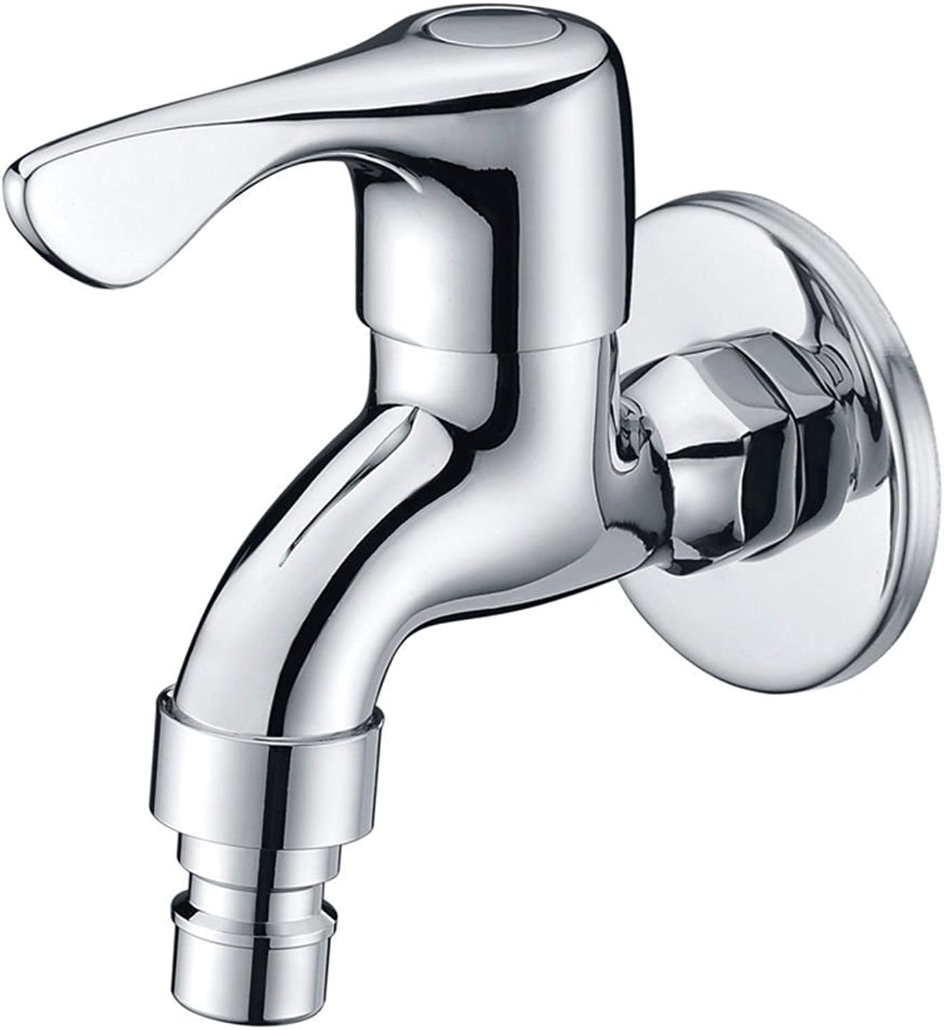 Lpophy Bathroom Sink Mixer Taps Faucet Bath Waterfall Cold and Hot Water Tap for Washroom Bathroom and Kitchen All Copper Single Cold Water Nozzle 4 Points