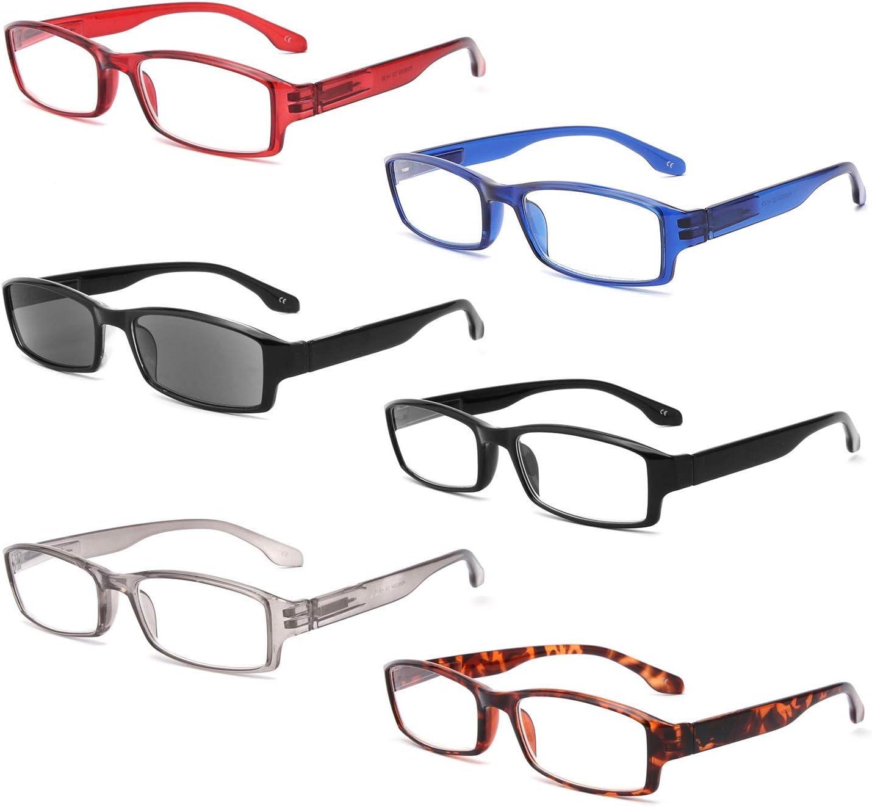 Super Special SALE held IVNUOYI 6 Pack Reading Glasses Blocking latest Light Rectangle Blue Fra