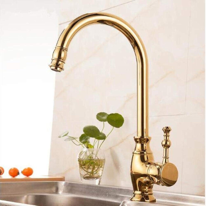 PUSMASH Hot & Cold Einhebel heier und kalter Küchenarmatur Swivel Gold schwarz Oil Brushed Küchenmixer Water Crane Wasserhahn Waschbecken Wasserhahn