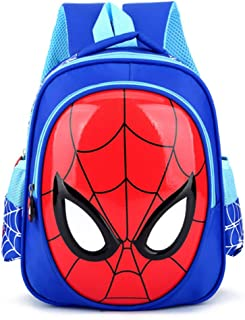 FENGDONG Fashion Children's Bag Spiderman Hard Shell boy Baby Tide Bag