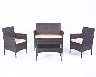 United Flame Sofa sets 4 Pieces Outdoor Patio Furniture...