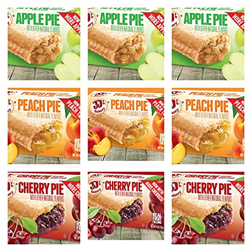 JJ's Bakery Pies Variety Max 61% OFF Max 75% OFF Pack of 9 .Apple Peach Pie Cherry