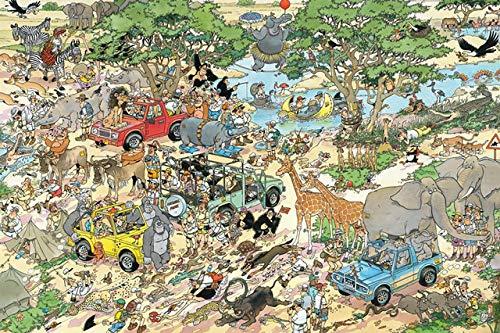 HZDXT Rompecabezas de Dibujos Animados, Rompecabezas de jardín zoológico 1000 Piezas, Adultos Gigantes Rompecabezas de Madera 1000 Piezas Juguetes para niños decoración del hogar