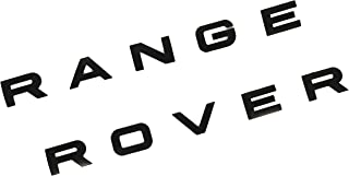 SUKRAGRAHA Replacement Hood Tailgate 3D Decal Letter Stickers Badge Emblem For Range Rover Sport Evoque 10-Letter Set (Matt Black)