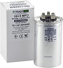 TradePro 50 + 5 mfd Dual Run Capacitor 370/440 Volt Round 50/5