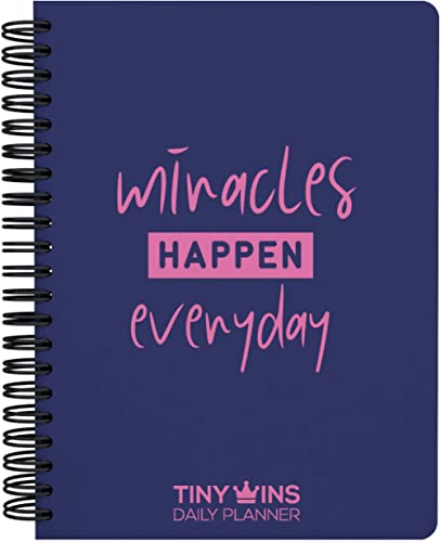 TinyChange TinyWins Daily Planner Schedule Your Day, Achieve Goals, Manage to-do List and Track Wellness A5 Size, Und...