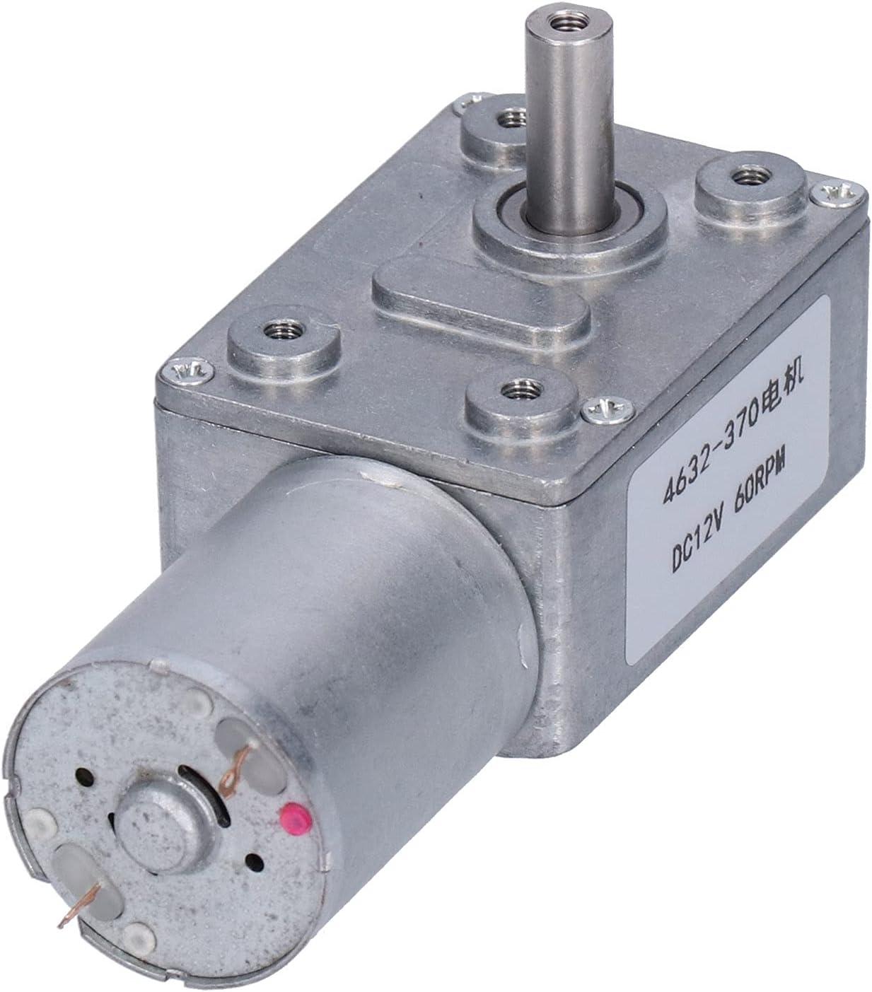 Turbine Long-awaited Gear Box Self‑Locking 60RPM 12V Houston Mall Geared Reducing DC