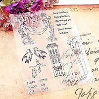 ホット販売ロマンチックな結婚式の明確なスタンプ/シリコーンシール花スタンプDIYスクラップブックアルバム/カードの生産