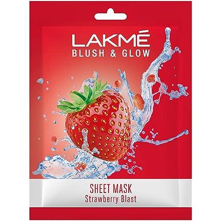 Lakmé Blush & Glow Strawberry Sheet Mask, 25 ml