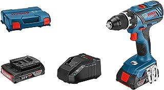 Bosch Professional 18 V system batteriborr i L-Case 2 x 2,0 Ah batteriladdare