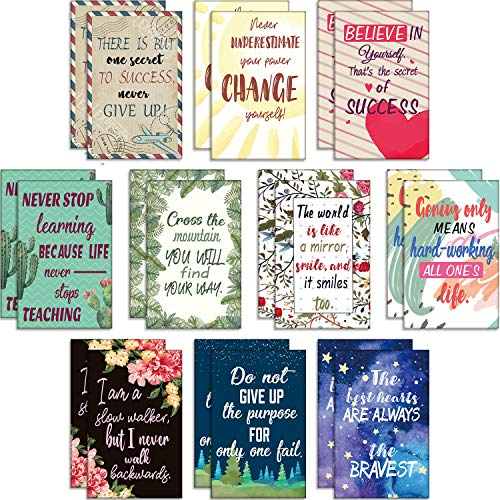 20 Piezas de Cuadernos Inspiradores Florales Pequeñas Libretas de Bolsillo Mini Cuaderno de Diario de Motivación Lindo Cuaderno Inspirador Positivo para Oficina Escuela Hogar Viaje, 10 Estilos