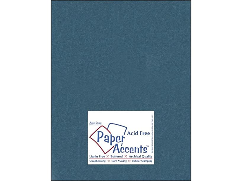 Accent Design Paper Accents Cdstk Silk 8.5x11 92# Tranquil Teal
