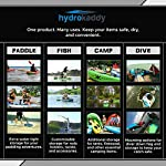Extreme sport outfitters hydrokaddy 7 extra storage for your paddling adventure keeps personal items dry and safe- yet convenient- while you are on the water. For example, coolers, food, beverages, smartphones, tablets, jewelry, car keys, medication, first aid kits, sleeping bag, tent, etc. Easy access design to keep everything at your fingertips