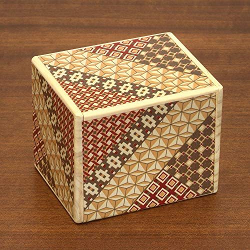 Bits and Pieces - Detailed Mosaic Secret Puzzle Box - 11 Step Solution - Wooden Money Brainteaser Secret Compartment Brain Game