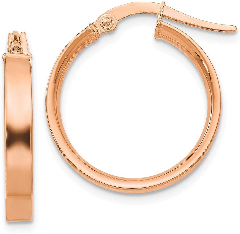 Beautiful pink gold 14K 14K Plated pink Rhodium Hoop Earrings