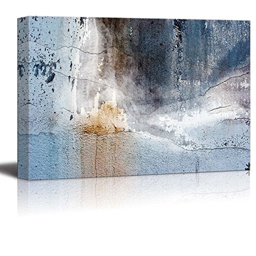 Abstract Canvas Art - Aged Wall - Giclee Print Modern Wall Decor | Stretched Gallery Wrap Ready to Hang Home Decoration - 32x48 inches
