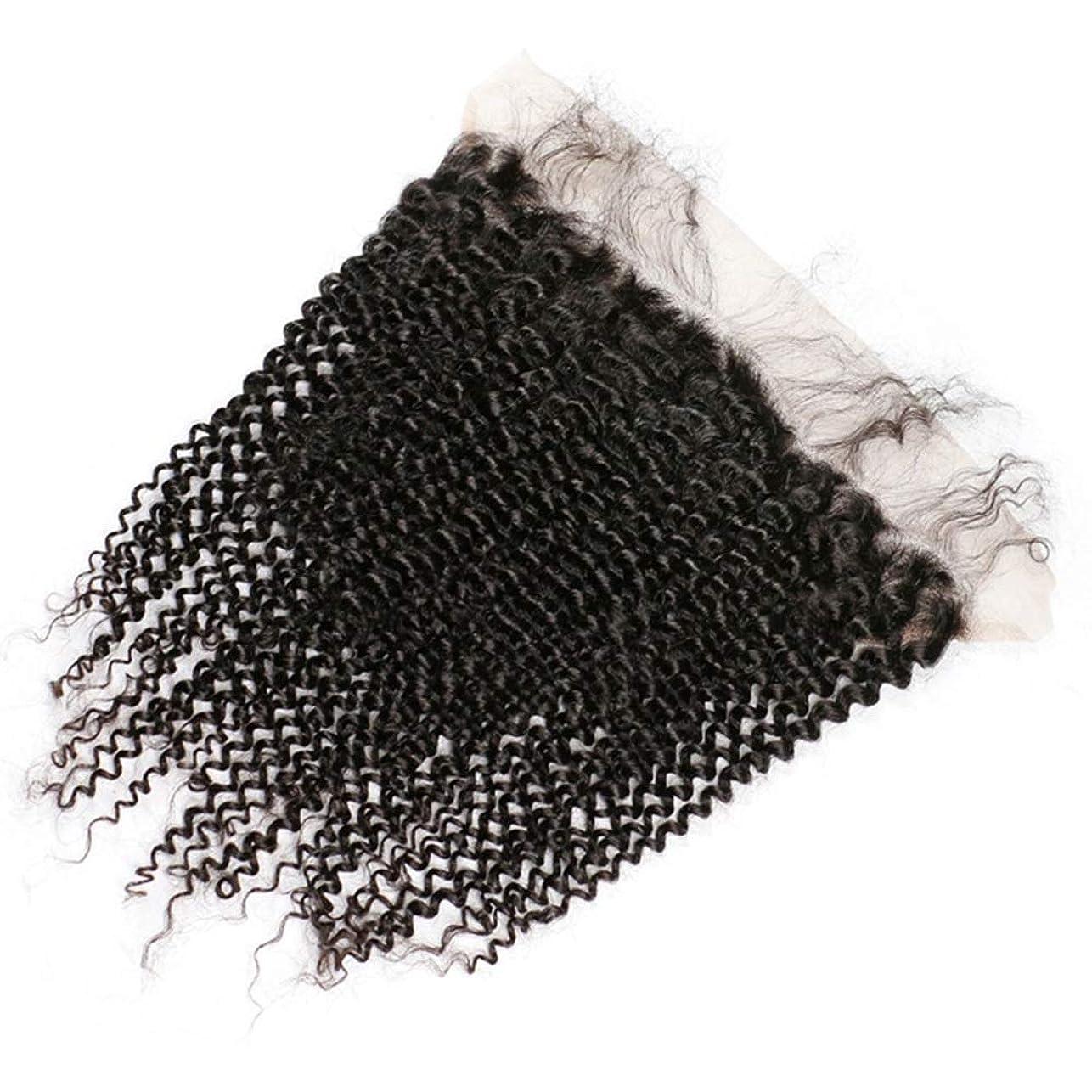 アセンブリ定期的に修理工Yrattary レースの閉鎖人間の髪の毛ブラジルストレート人間の髪の毛の耳に自然な色合成髪レースかつらで13 x 4自由な部分前頭ロールプレイングかつら (色 : 黒, サイズ : 20 inch)