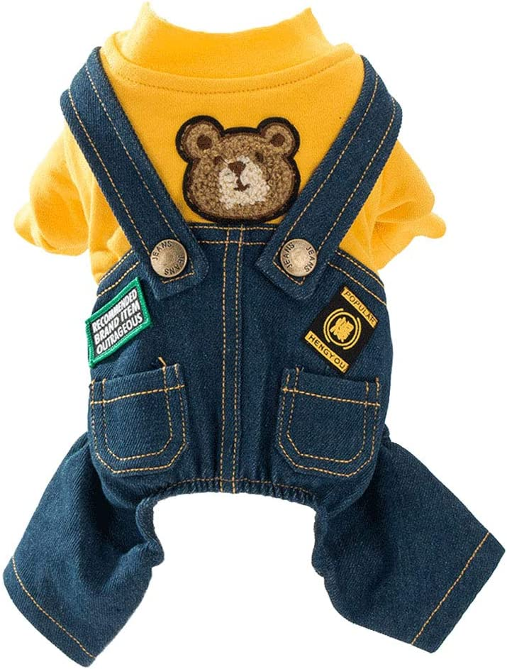 Dog Costume Clothes All stores are sold Cute Denim Overalls Ranking TOP19 Small for Pets Medium