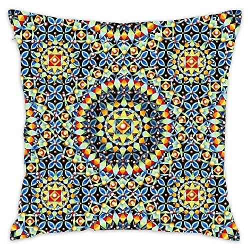 N\A Fundas de Almohada Decorativas Bijoux isabelinas de Boho Chic, Fundas de cojín de Funda de Almohada de algodón Cuadrado, sofá, sofá, niños