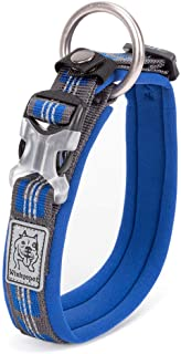 Chai's Choice Best Neoprene Padded 3M Reflective Dog Collar for Large, Medium, Small Dogs. Please Use Sizing Chart at Left.