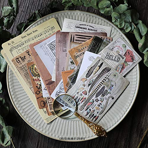 50PCS Old Newspaper Book Page Mixed for Scrapbooking Happy Planner/Card Making/Journaling Project C150