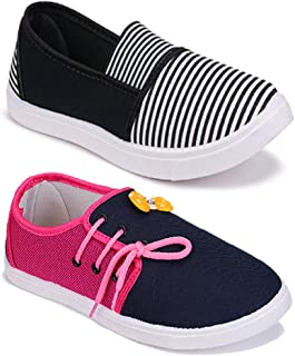 Axter Women Multicolour Latest Collection Sneakers Shoes- Pack of 2 (Combo-(2)-11028-11022)