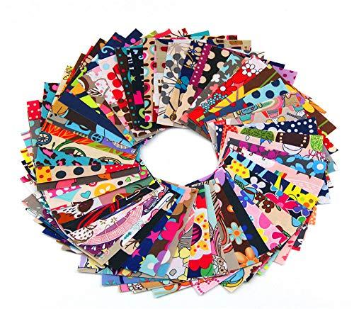 Patchwork Algodon Ropa de Manualidades ,Patchwork Costura Manualidades DIY,15 Piezas no Repite el Mosaico de Bricolaje, Tela Artesanal de Costura de poliéster Impermeable