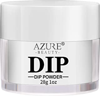 AZUREBEAUTY Dip Powder Clear Color(1oz) for French Nail Manicure Nail Art, Non-Tocix & Odor-Free, without UV LED Lamp Cured, Long Lasting