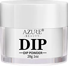 AZUREBEAUTY Dip Powder Clear Color(1oz) for French Nail Manicure Nail Art, Non-Tocix & Odor-Free, without UV LED Lamp Cured, Long Lasting,