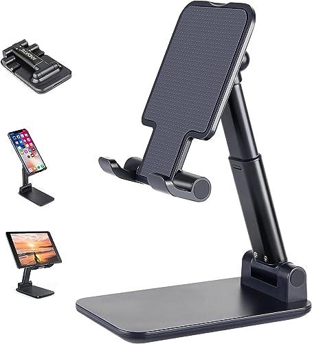 Suporte para celular, suporte de celular ajustável de altura de ângulo ANDATE para mesa, suporte para celular totalme...