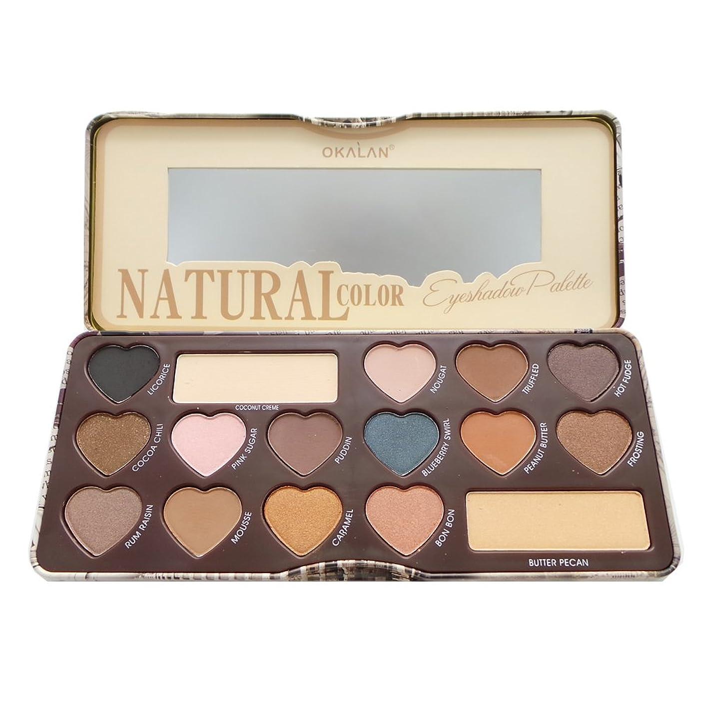 耳偽造控えるOKALAN Natural Color Eyeshadow Palette A (並行輸入品)