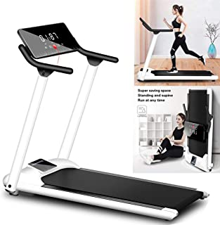 New Folding Electric Treadmill Motorised Portable Running Machine Fitness Lot with a Screen Supports Different Running Speeds of 1-10KM / H Max 286lbs