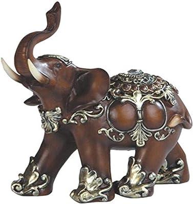 "George S. Chen Imports SS-G-88098 Thai Elephant Wood Like Design Figurine, 6"", SS-G-88098, 7888098, 6"""