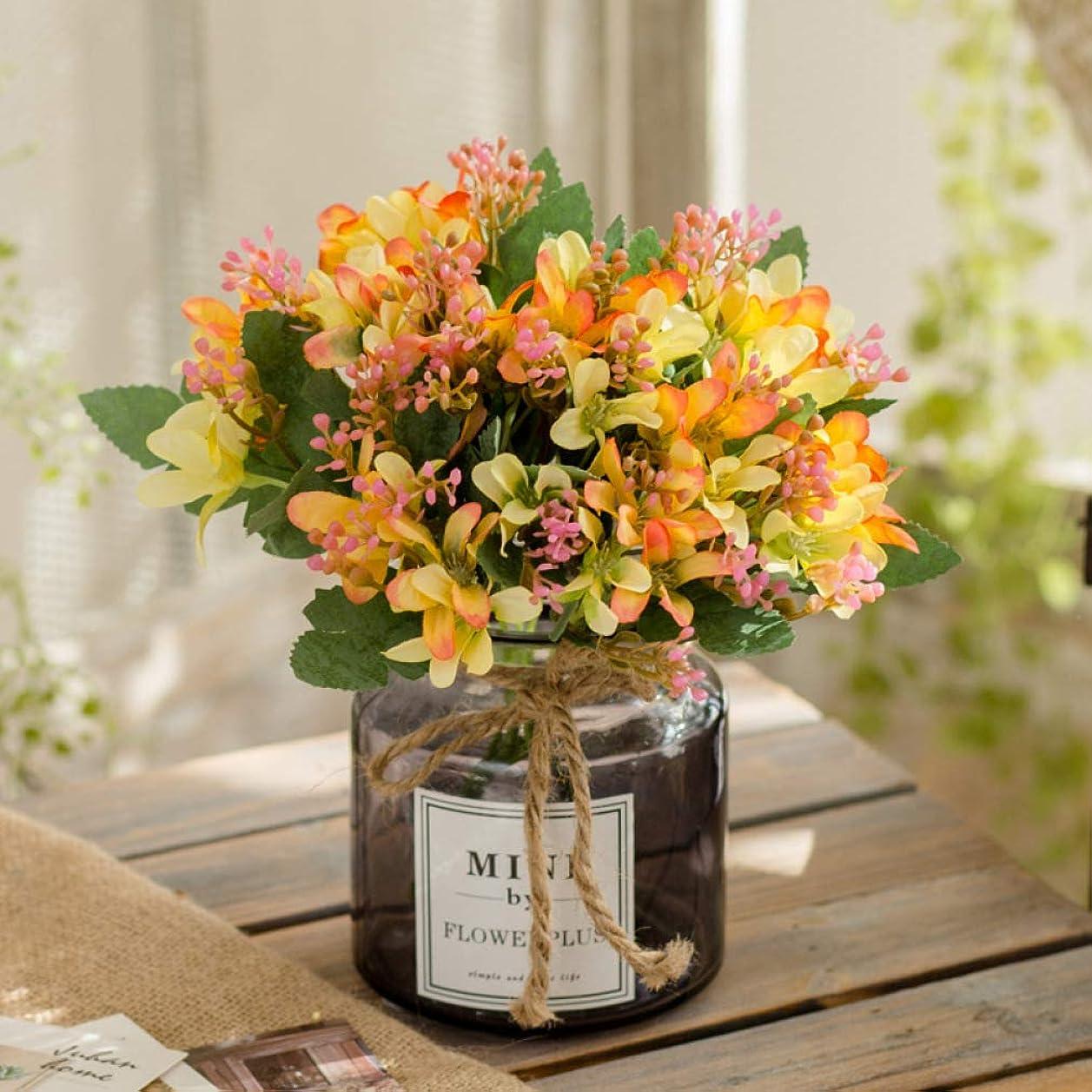 偏見助けになる百万造花 水仙 イエロー 人工観葉植物 枯れない花 アートフラワー 花瓶付き 本物そっくり プレゼント ギフト 花束 ブーケ お祝い お返し 父の日 母の日 誕生日 結婚式 バレンタインデー 手作り 装飾 インテリア 置物