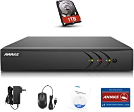 Annke 4-Channel 5-in-1 1080P Lite Security Standalone DVR with 1TB Hard Drive Pre-installed, H.264+ HDMI Output, Quick QR Code Scan and Easy Remote View for Home Security Surveillance Camera System