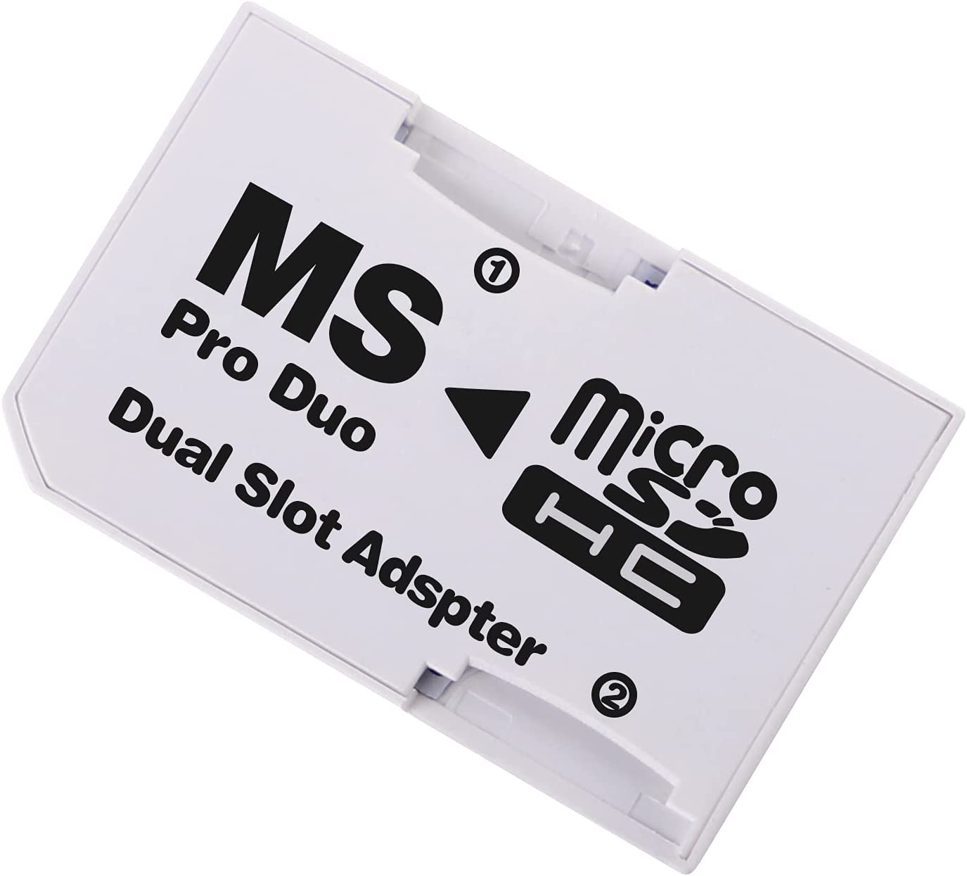 Cuziss Dual Slot MicroSD Micro SDHC Adapter Duo Pro Memory Stick Adapter for PSP Sony