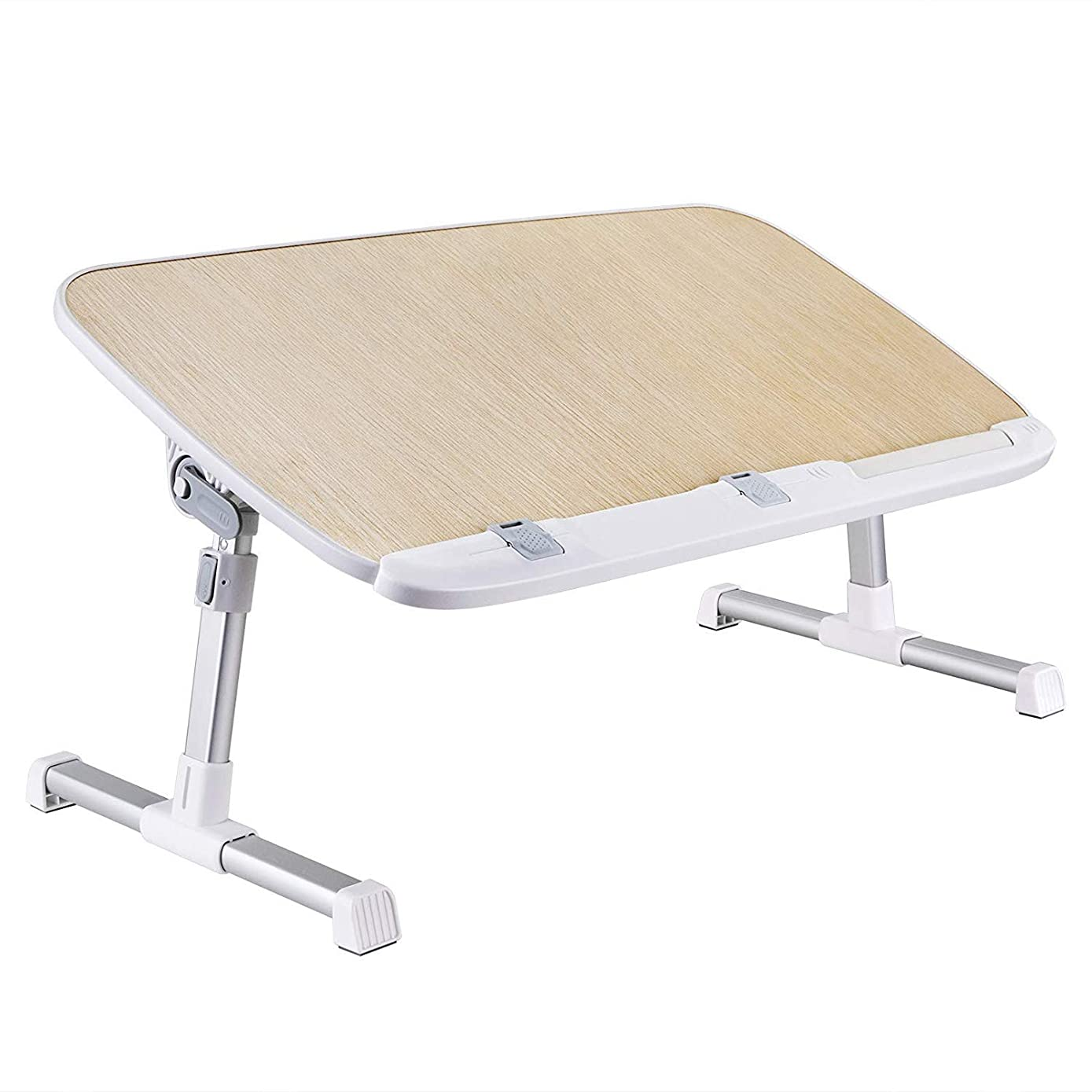 Laptop Lap Desk, Foldable Laptop Table Stand, Height Adjustable Laptop Desk for Bed and Sofa, Portable Lap Desk, Bed Tray Table, Office Standing Desk Riser, Computer Desk, Drafting Table