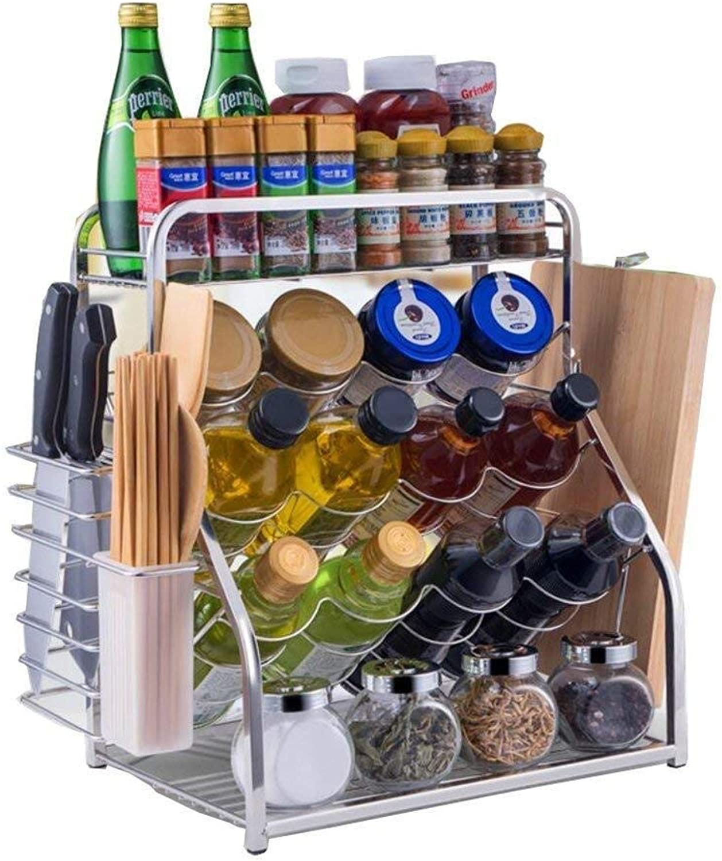 Spice Rack- 304 Stainless Steel Dish Rack Drain Rack to Dry Seasoning Supplies Storage Box Kitchen Rack ZXMDMZ