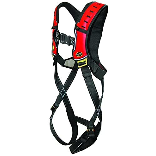 Waist Tounge Buckle and Leg Tounge Buckles XXL Guardian Fall Protection 193162 Construction Premium Edge Harness with Quick Connect Chest Buckle