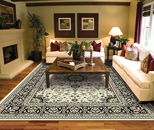 Large Rugs for Living Room Ivory Traditional Clearance Area Rugs 8x10 Under 100 Prime Rugs
