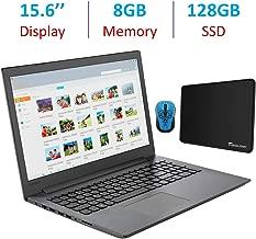 Lenovo 15.6-inch HD WLED Backlit Display Laptop PC, AMD A9-9425 3.1GHz Processor, 8GB DDR4 RAM, 128GB SSD, DVDRW, Webcam, WiFi, Wireless Mouse and Tigology Mouse Pad, Bluetooth, HDMI, Windows 10