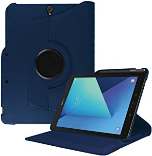 Fintie Rotating Case for Samsung Galaxy Tab S3 9.7, Premium PU Leather 360 Degree Swivel Stand Cover with S Pen Protective Holder Auto Sleep/Wake for Tab S3 9.7(SM-T820/T825/T827), Navy Blue