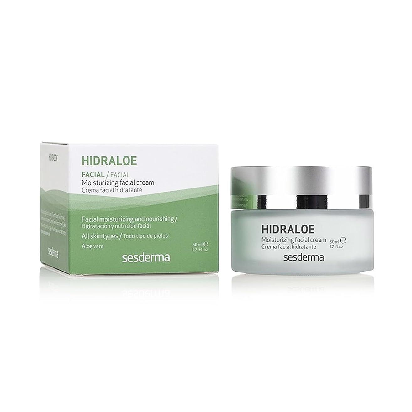 貫通する簡単な伝染病Sesderma Hidraloe Facial Moisturizer Cream 50ml [並行輸入品]