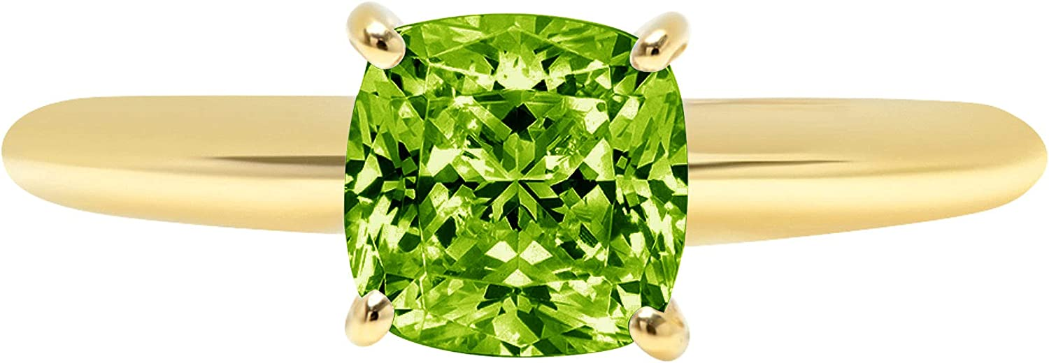 1.1 ct Brilliant Cushion Cut P 100% quality warranty! Green Solitaire Tampa Mall Flawless Stunning