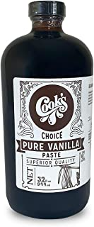 Cook's, Pure Vanilla Bean Paste (Puree), World's Finest Gourmet Fresh Grade A Premium Vanilla, 32 oz