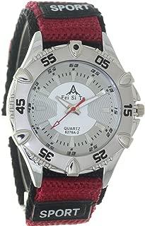Nylon Ribbon Band Military Army Sticker Fastener Polished Buckle Sport Quartz Unisex Bezel Wristwatch