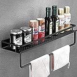 浴室の棚黒アルミ壁掛けスクエアシャンプー棚化粧品棚キッチンネット棚収納ラックオーガナイザーラック