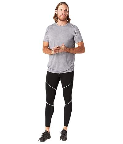 Smartwool Merino Sport Fleece Tights (Black) Men