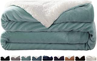 LIANLAM Sherpa Fleece Blanket King Size Dual Sided Blanket Super Soft and Warm Fuzzy Plush Cozy Luxury Big Bed Blankets Microfiber (Turquoise, 104
