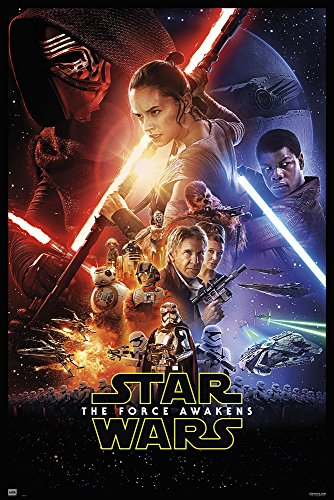 Star Wars: Episode VII - The Force Awakens - Movie Poster/Print (Regular Style) (Size: 24 inches x 36 inches) (24 inches x 36 inches Unframed)